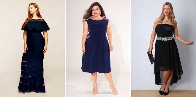 вечерние платья для полных женщин 2018