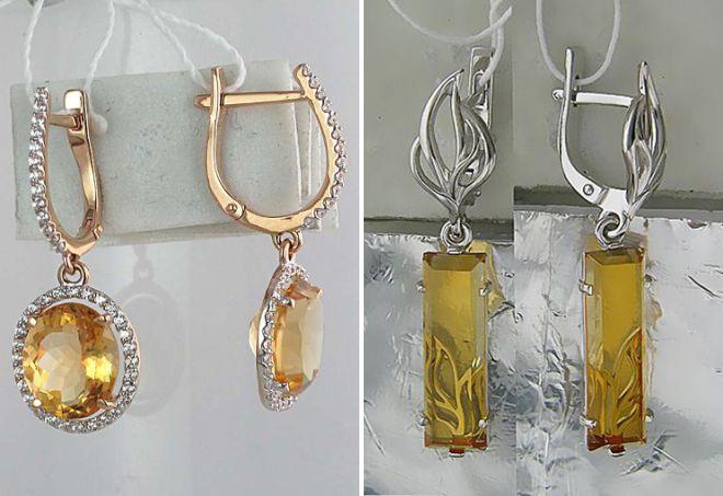 گوشواره طلا با سیتروئن بزرگ