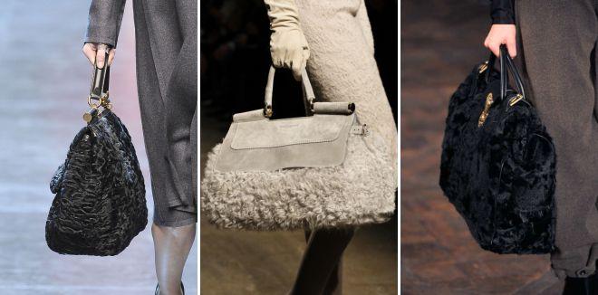 сумки из меха каракуля