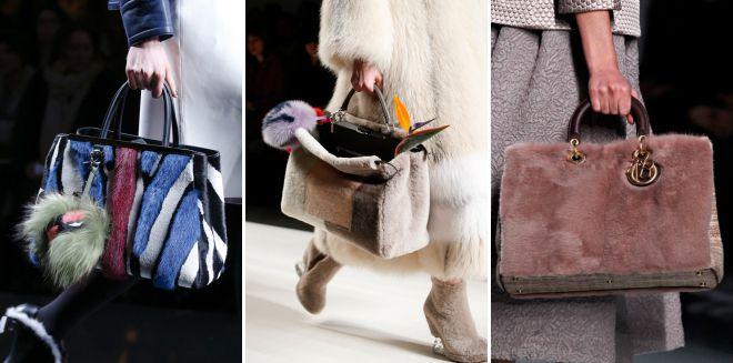 модные сумки с мехом