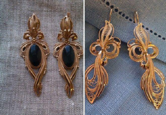 Самые модные серьги 2017 – последние тенденции и тренды, стильные серьги из золота и серебра, кольца и цепочки, кисточки и гвоздики