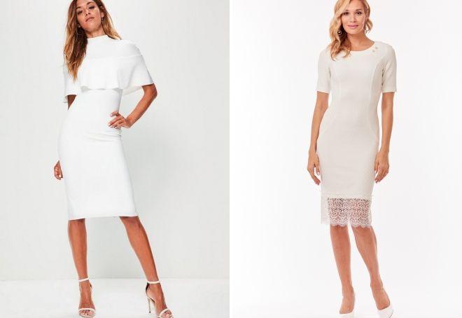 065877fdf46 Белое платье-футляр – классическое