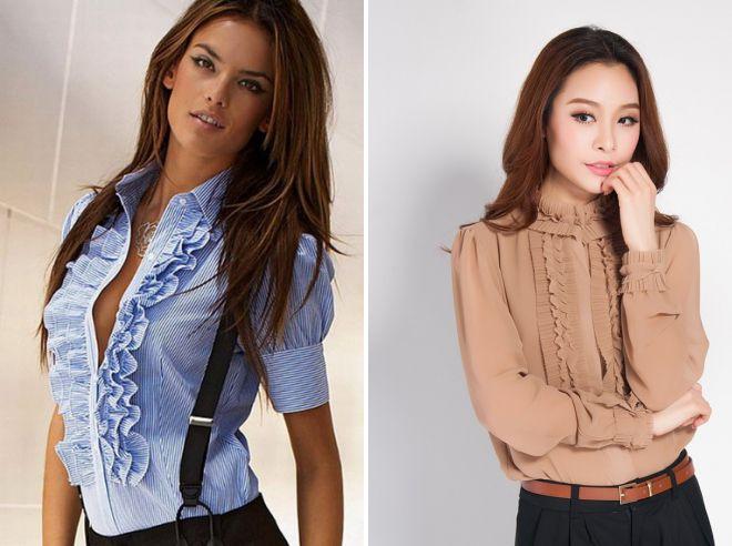 офисные рубашки для женщин