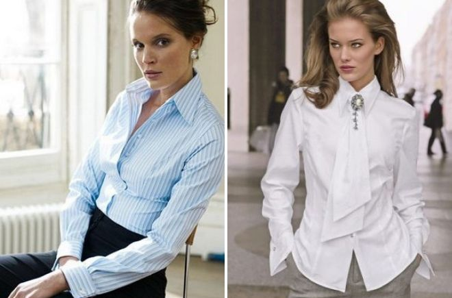 цвет женских рубашек для офиса