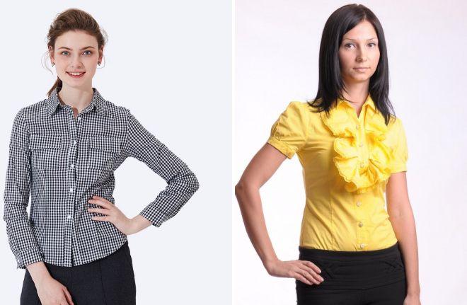 женские офисные рубашки 2017