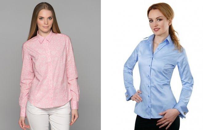 цвет женских рубашек для офиса 2017