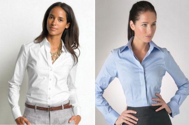 женские рубашки в деловом стиле