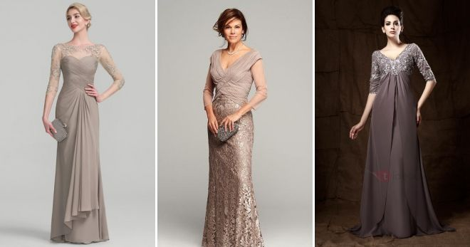Длинное платье на свадьбу для мамы