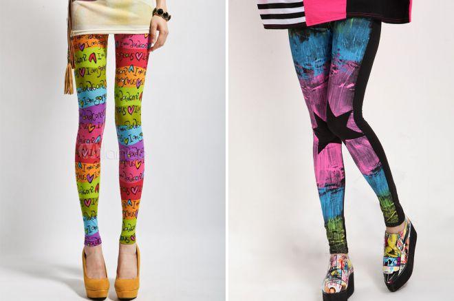 модные цветные лосины