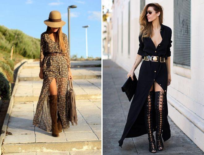 a6445f0c0 Сочетание платья с сапогами – длинное, миди, короткое, рубашка ...