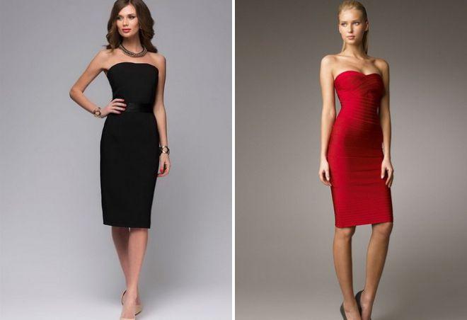платье футляр без бретелек