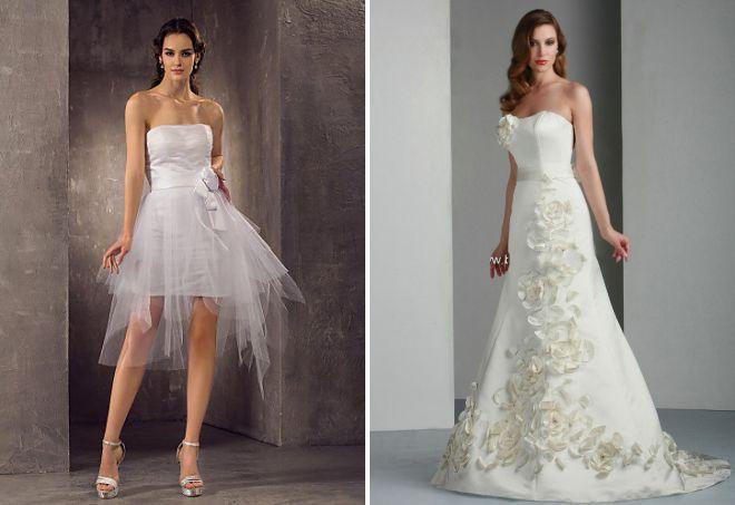 свадебное платье без бретелей