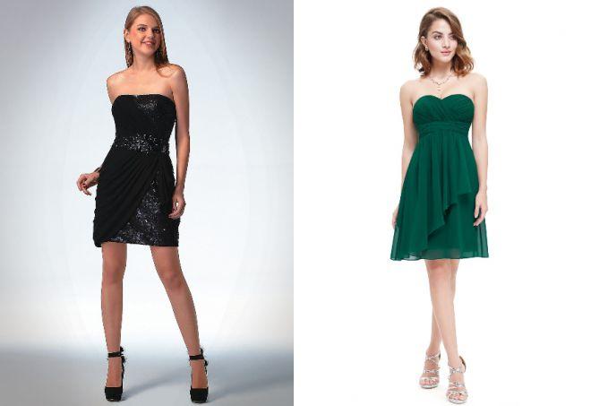 черное платье без бретелек