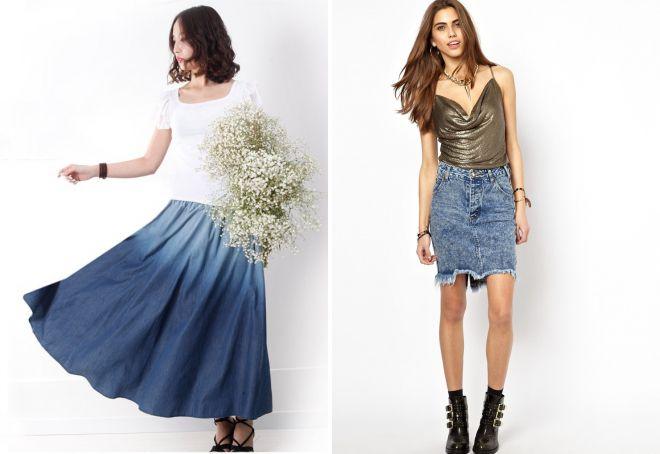 модные джинсовые юбки 2018 года