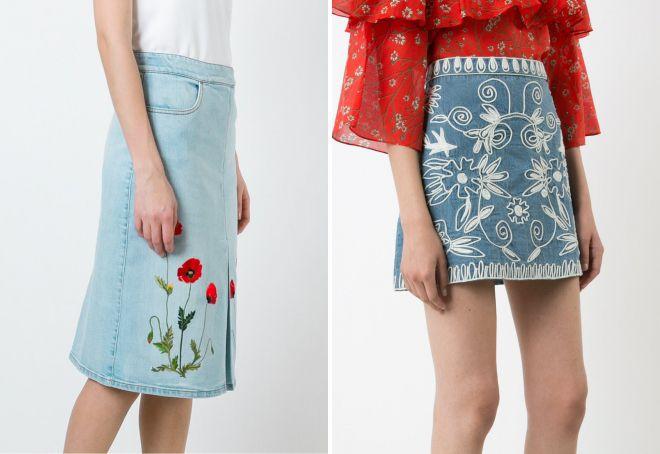 джинсовые юбки в моде 2018