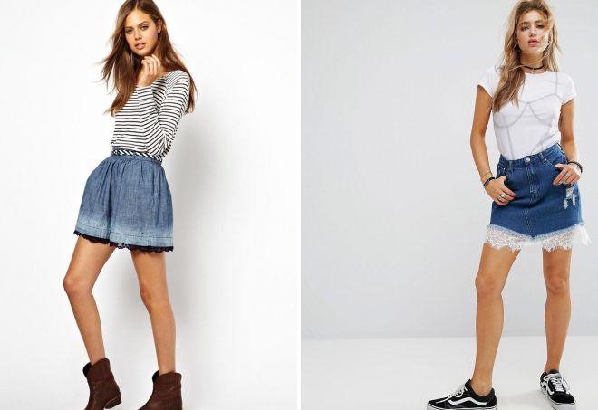 джинсовые юбки 2018 года