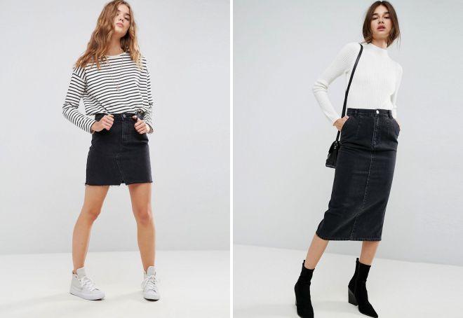 какие джинсовые юбки модные в 2018 году
