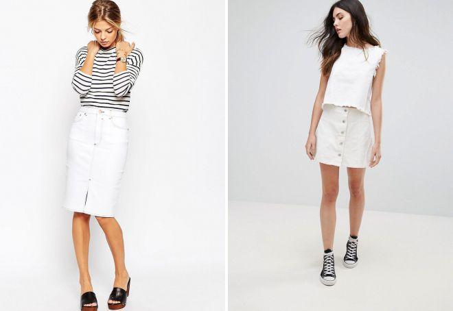модные джинсовые юбки 2018