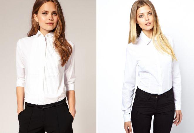 модные белые рубашки