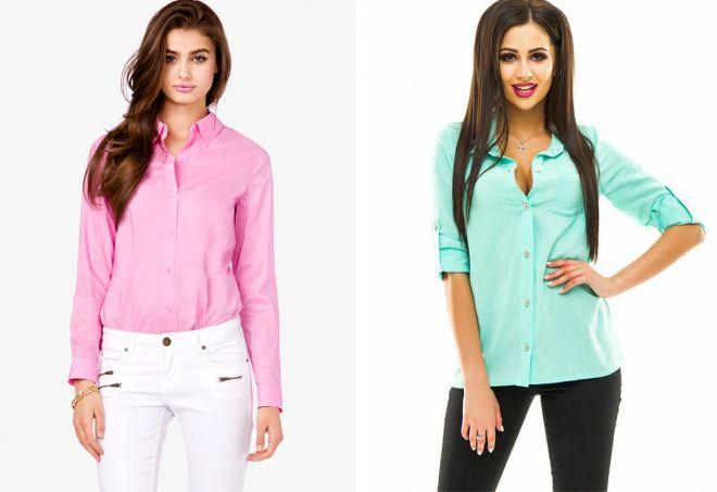 самые модные женские рубашки