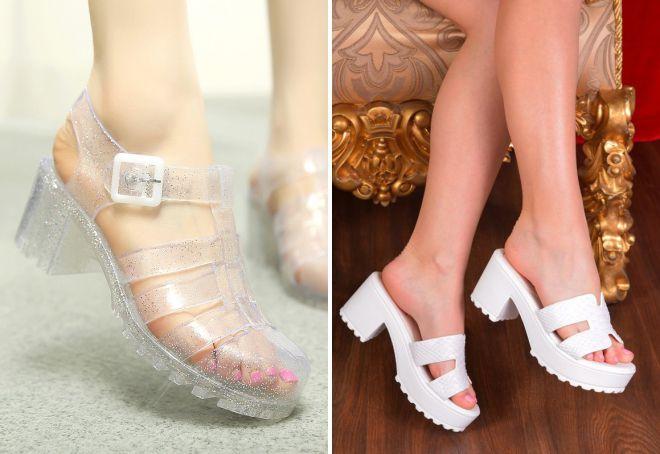 пляжная обувь на каблуке