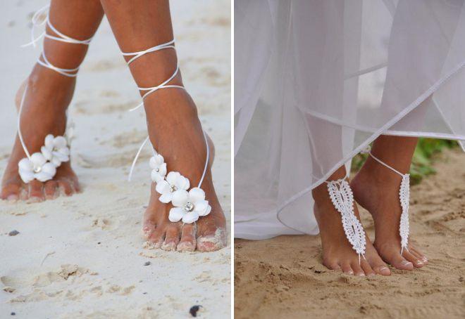 обувь для пляжной свадьбы