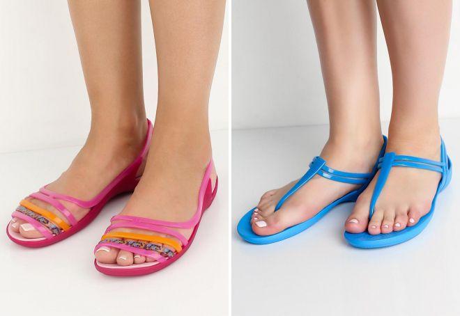 резиновая пляжная обувь