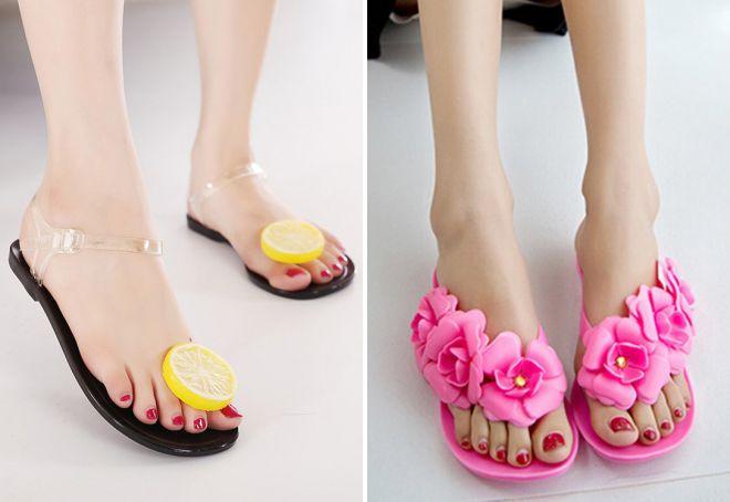 женская обувь для пляжа