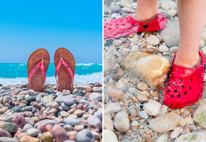 обувь для галечного пляжа