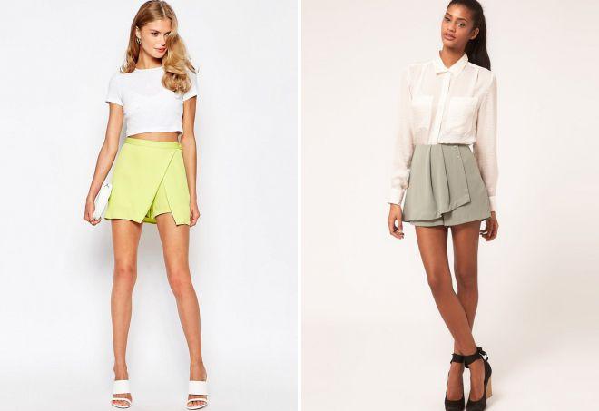 классические шорты юбка