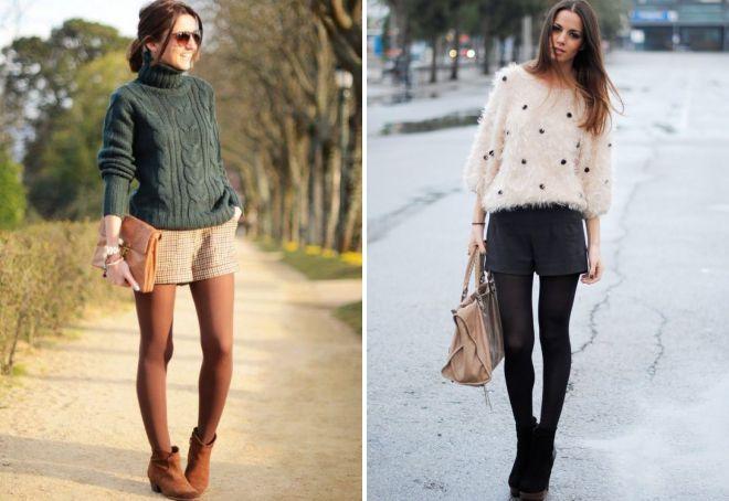 лук с классическими шортами