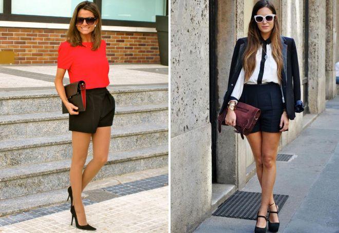 женские летние классические шорты