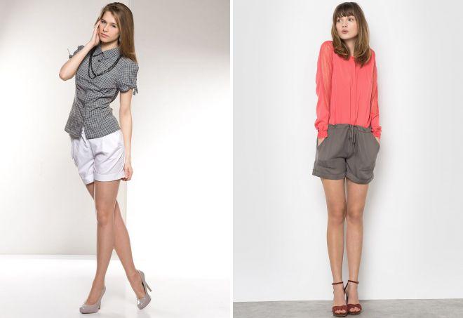 образы с классическими шортами