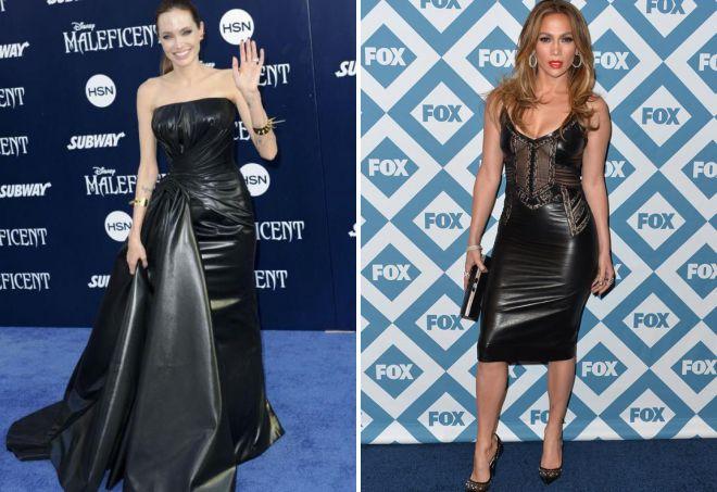 кожаные обтягивающие платья