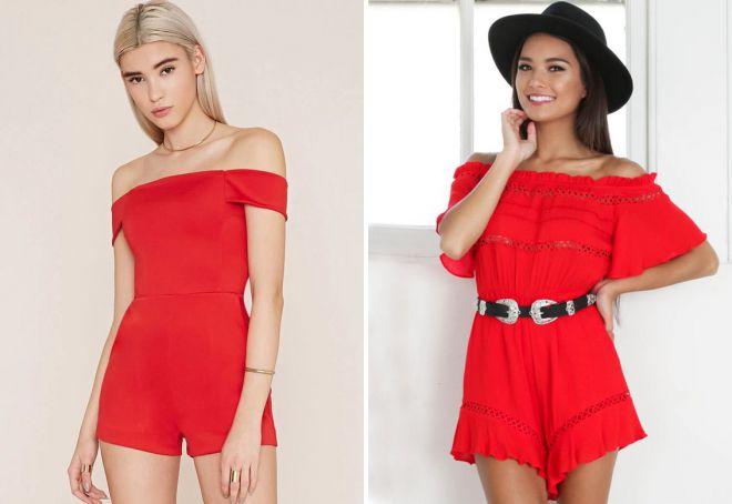 красные шорты для девушек