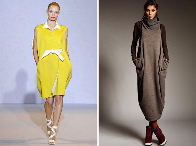 с чем носить платье мешок