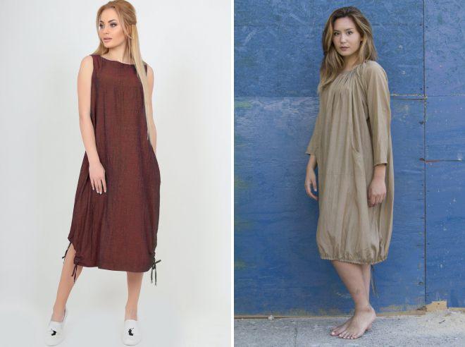 платье мешок с карманами