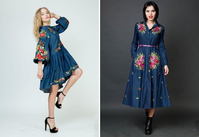 летние платья с вышивкой