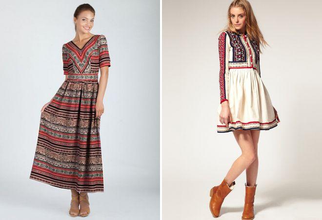 платье в полоску с вышивкой