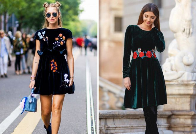 модные платья с вышивкой
