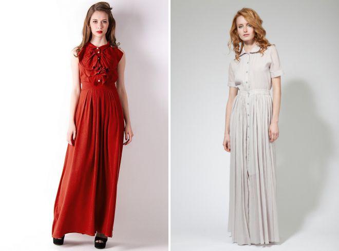 платье из жатого хлопка