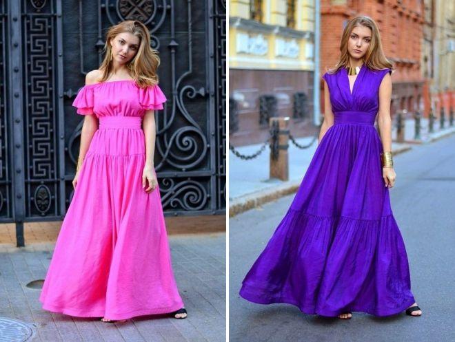платье из хлопка на лето