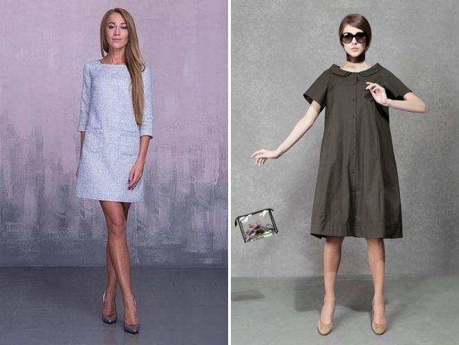 платье трапеция из хлопка