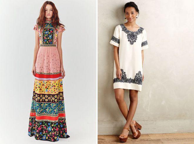 платья из хлопка с вышивкой