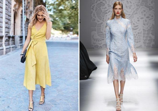 платья из хлопка 2018