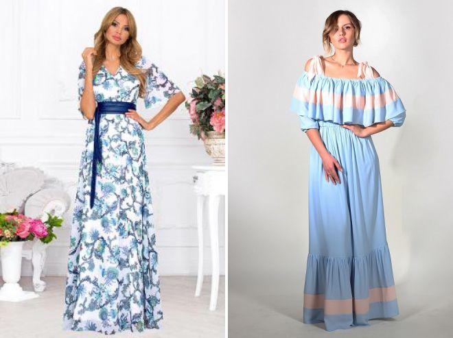 длинные платья из хлопка для дома