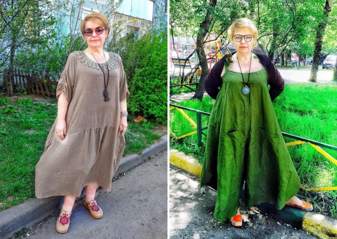 летние платья из хлопка для полных женщин