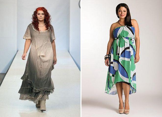 летние платья из хлопка для полных женщин 2018