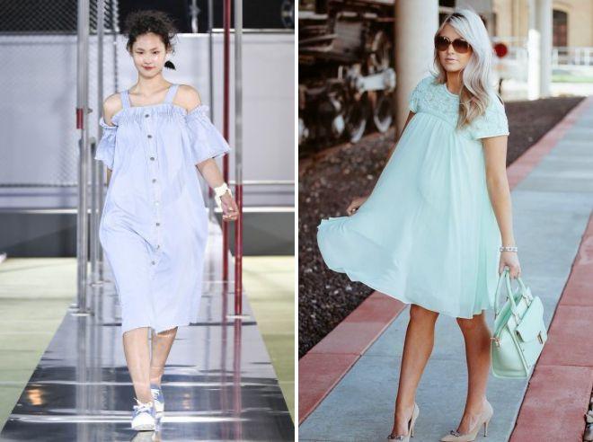красивые платья для беременных из хлопка