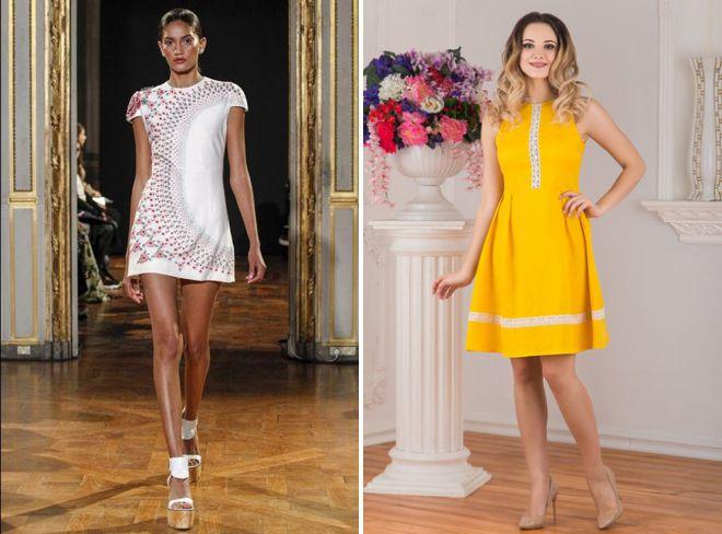 модные платья из хлопка
